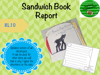 Sandwich Book Report Project