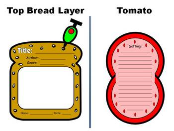 Sandwich Book Report Project Templates By Heidi Mcdonald