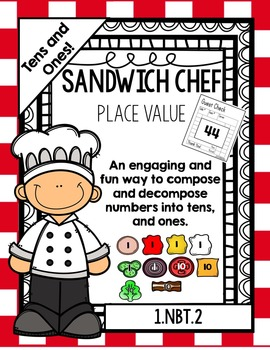Place Value Sandwich Chef (2-digit Numbers!) (Includes One