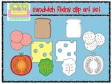 Sandwich Fixins Clip Art Set