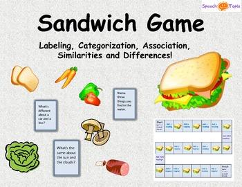 Sandwich Game (Labeling, Categorization, Association, Simi