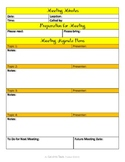 Sanity Saver: Meeting Minutes Form (Bright and Cheery)