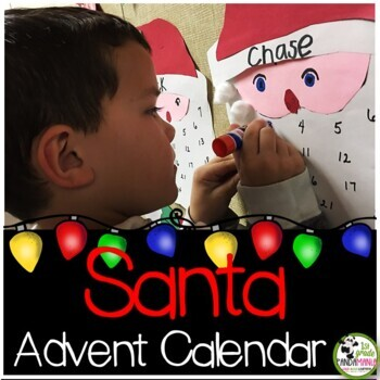 Santa Advent Calendar Craft