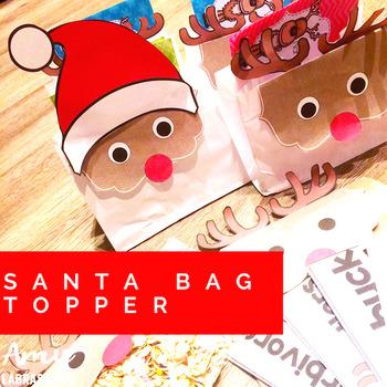 Santa Bag Topper