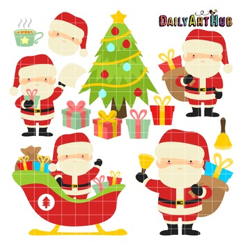 Santa Claus Clip Art - Great for Art Class Projects!