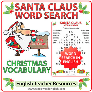 Santa Claus Word Search in English