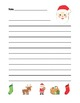 """Santa Claus"" Writing Sheets –  Common Core (color & black line)"