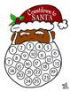 Santa Countdown in Color, B/W, and 2 Skin Tones