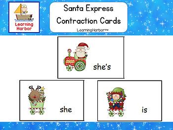Santa Express Contraction Matching Cards