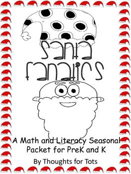 Santa Fanatics, Christmas Math and Literacy for PreK and K