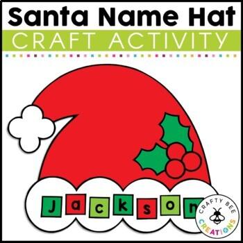 Santa Hat Cut and Paste