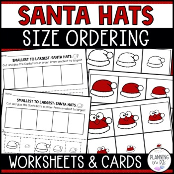 Santa Hats - From Smallest to Largest