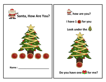 Santa, How Are You-Christmas Emergent Reader Book-Color/BW