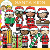 Santa Kids Christmas Clip Art