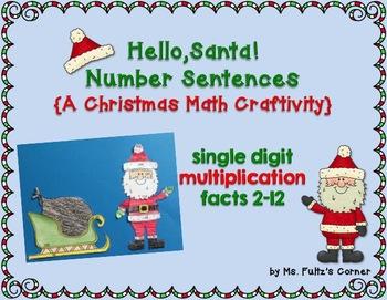 Santa Math Craftivity: Multiplication and Division Number