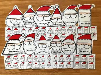 Santa Shapes Sorting Mats