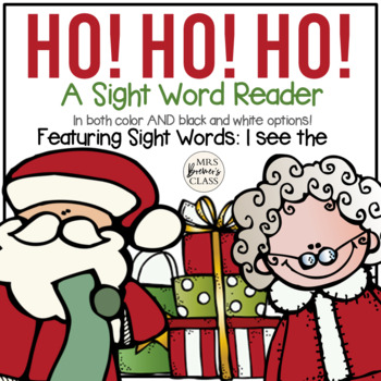 Santa Sight Word Reader