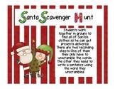 Santa Sight Word Scavenger Hunt