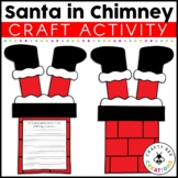 Santa Stuck in Chimney Cut and Paste