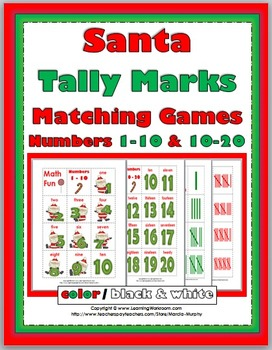 Tally Marks - Christmas Math - Numbers 1-10 & Numbers 11-2