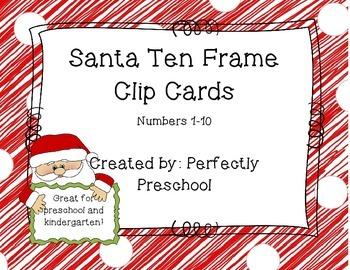 Santa Ten Frame Clip Cards
