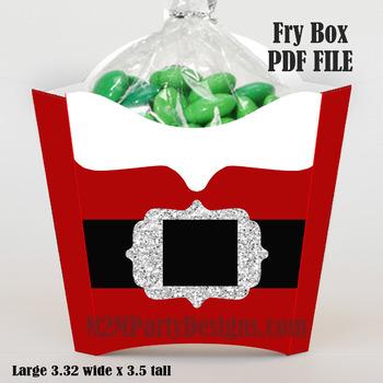 Santa Treat Box Large Fry Box Size