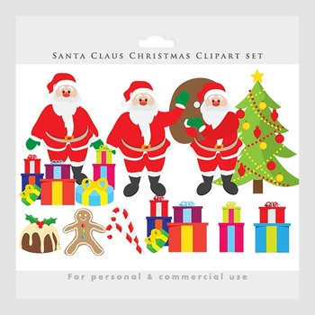 Santa clip art - Christmas clipart, Santa Claus, holiday,