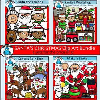 Santa's Christmas Clip Art Bundle - Chirp Graphics