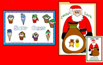 Santa's Sack & Snowcones Matching