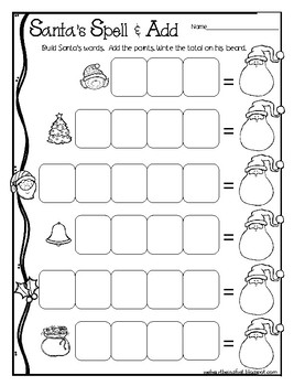 Santa's Spell & Add FREEBIE