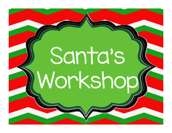 Santa's Workshop Dramatic Play Centre, Christmas Holiday K