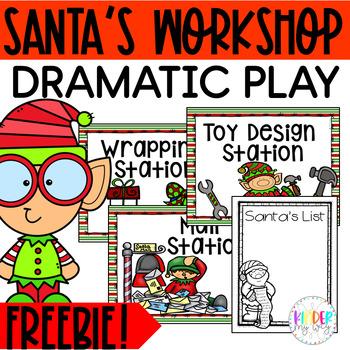 Santa's Workshop Dramatic Play FREEBIE
