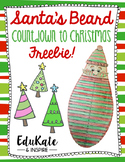 Santa's Beard Countdown to Christmas FREEBIE!