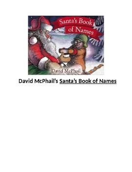 Santa's Book of Names:  David McPhail