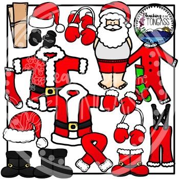 Santa Clothes Clipart Bundle