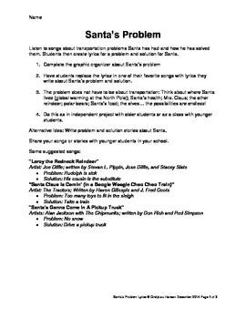Santa's Problem and Solution - Write Lyrics