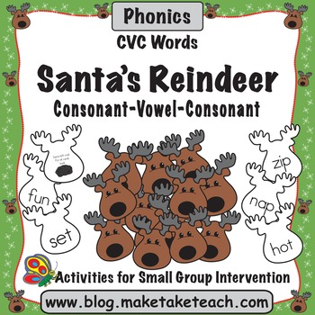Santa's Reindeer- CVC Words