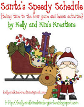 Santa's Speedy Schedule! {telling time to the hour game an