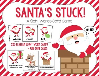 Santa's Stuck!  A Christmas Sight Words Card Game With All