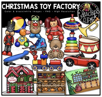 Christmas Toy Factory Clip Art Bundle {Educlips Clipart}