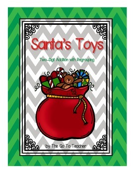 Santa's Toys: Two Digit Addition With Regrouping