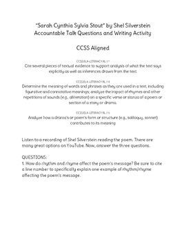 """Sarah Cynthia Sylvia Stout"" Accountable Talk and Writing"