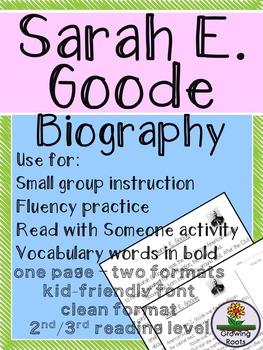 Sarah E. Goode Biography