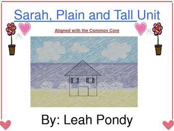 Sarah, Plain and Tall Activity Packet