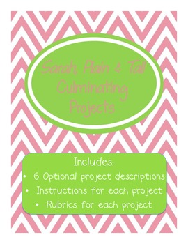 Sarah, Plain and Tall Culminating Projects