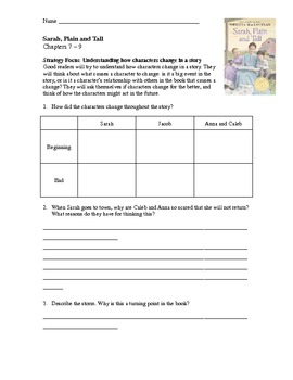 Printables Sarah Plain And Tall Worksheets sarah plain and tall lesson plans by fifth grade renegade comprehension activities