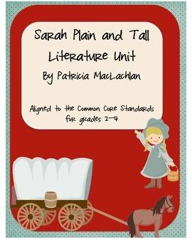 Sarah, Plain and Tall Literature Packet