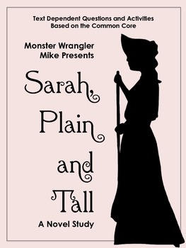 Sarah, Plain and Tall Novel Questions and Activities