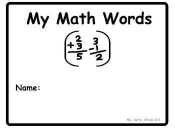 Saskatchewan Grade 2/3 Math Word Wall