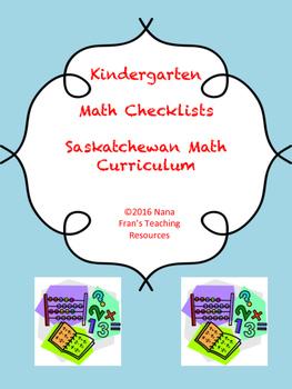 Saskatchewan Kindergarten Math Checklists